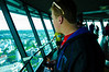 Kevin looking out at the Sky Tower