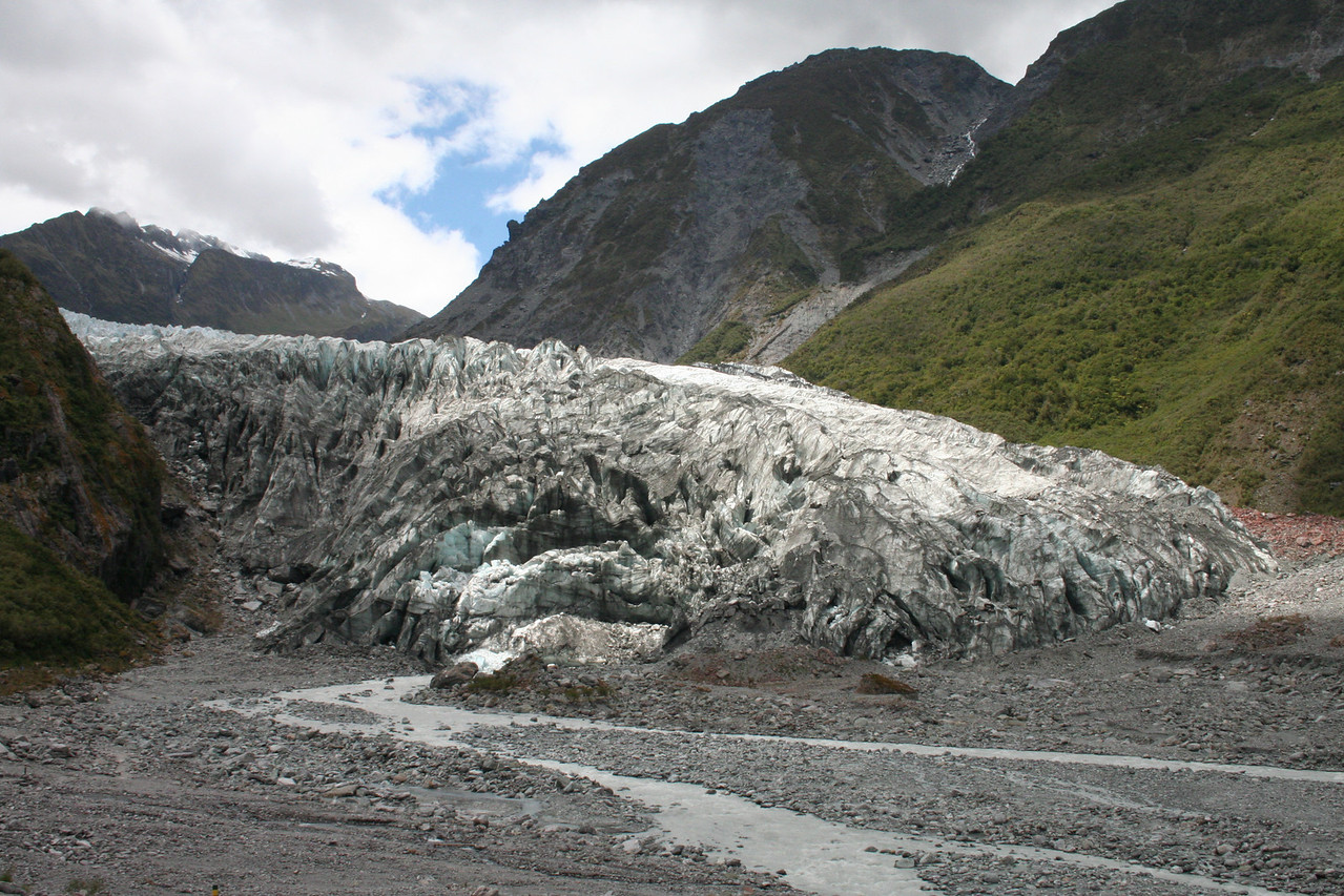 Fox Glacier, you were able to walk within 75m of the terminal face in just 15 minutes.