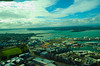 Another view from the Auckland Sky Tower, looking North.  We crossed that bridge to go to the Kauri Cliffs resort.  Rich drove, on the left side of the street.  A bit terrifying!