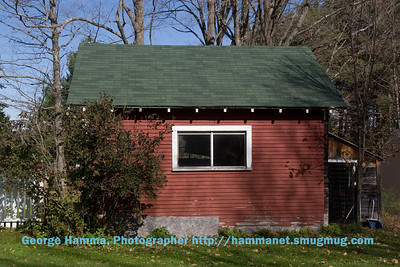 This is an outbuilding in back, painted with the obligatory VT barn red paint.