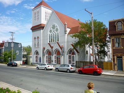 St. John's side street church.