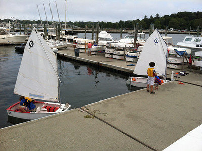 The Ida Lewis Yacht Club is family-oriented.  I think small sailboats like this provide the best way for youngsters to learn to sail.