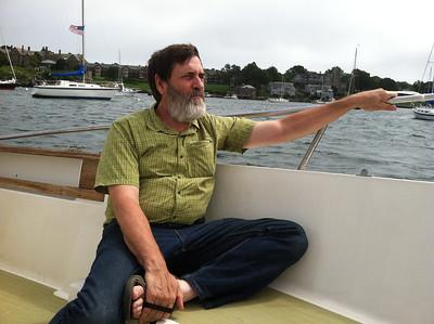 Relaxing as we toured Newport Harbor