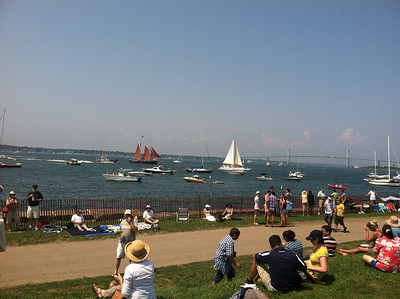 Sail boats, motor boats, kayaks -- boats of all sizes!  It was fun to watch the boats while listening to the music.