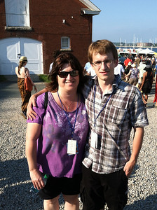 Aaron and his mom (all the way from Oregon) at Newport Jazz Festival, August 4, 2012.
