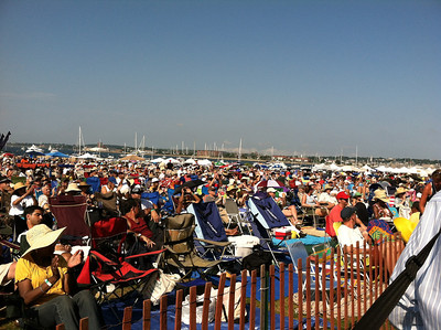 Audience at the Fort Stage, 4pm Saturday.