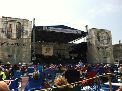 Fort Stage.  As we arrived, John Ellis & Doublewide were playing.