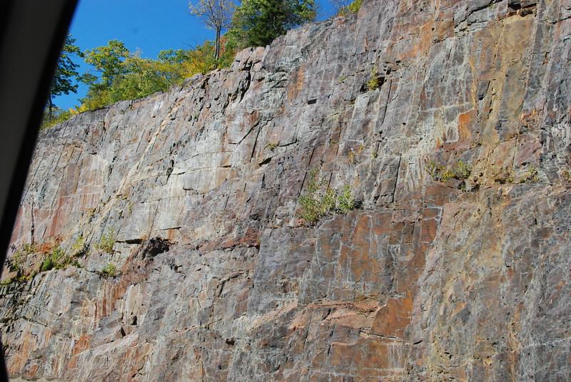 Granite walls.