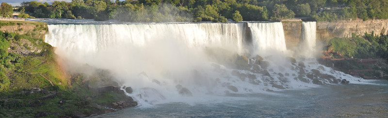 Sun setting on the American Falls<br /> Niagara Falls, Ontario, Canada<br /> August 22, 2016