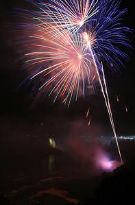 Fireworks over Niagra Falls