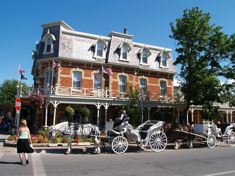 The Prince of Wales Hotel in downtown Niagra on the Lake.