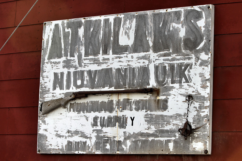An old sign