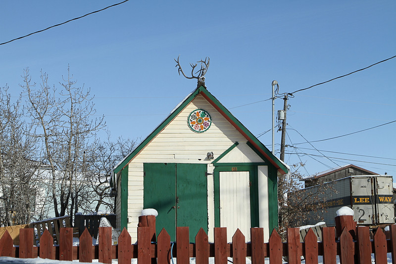 An Alaskan weathervane