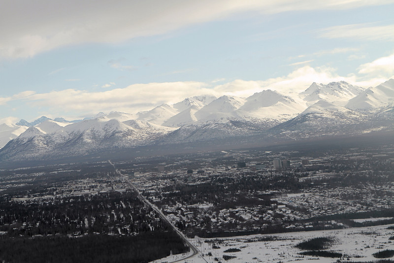 Taking off from Anchorage