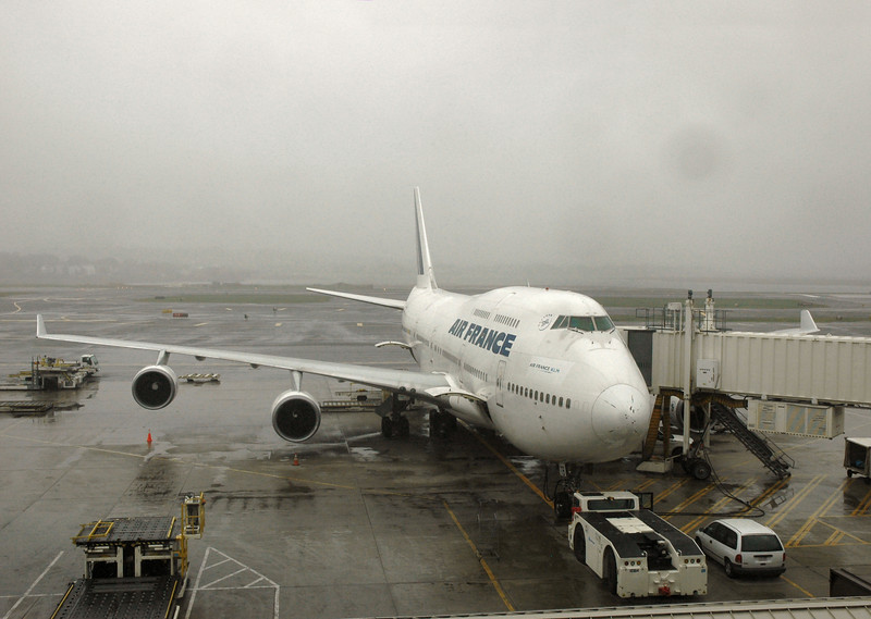 Our plane -- first time we've flown in a 747.