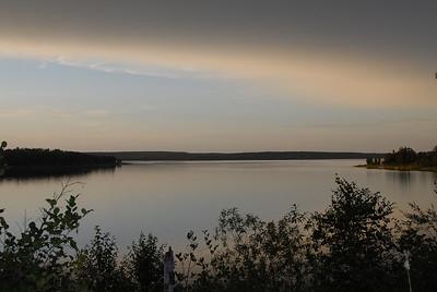 The beginning of sunset