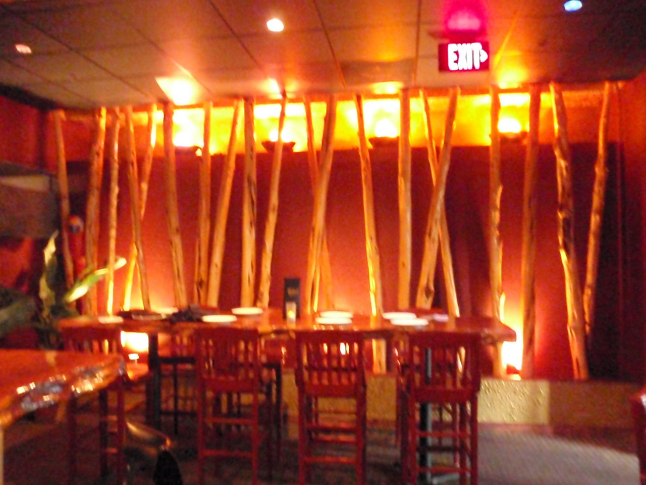 Swanky interior of Fire Island Grill.