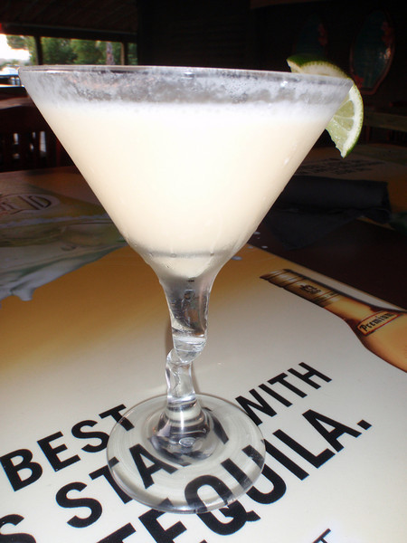 Another shot of my Key Lime Martini.