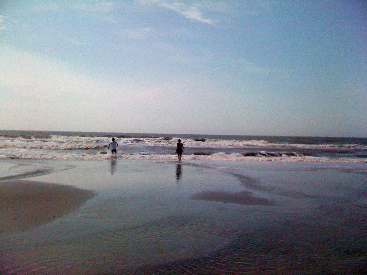 I love watching them enjoy the beach.