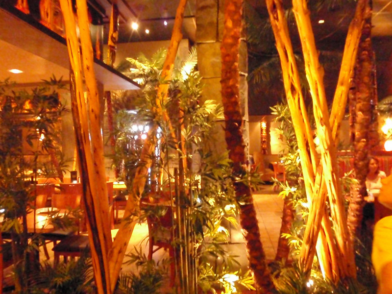 It's a jungle inside of Fire Island Grill !