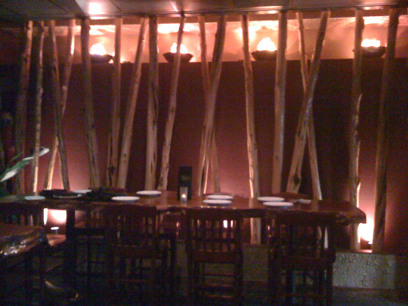i-phone shot of interior of Fire Island Grille.