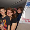 Galen, Kathy, Miranda and Hailey from the top of the Gateway Arch in St. Louis