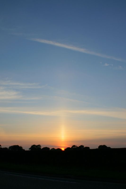 Another shot of the sun pillar