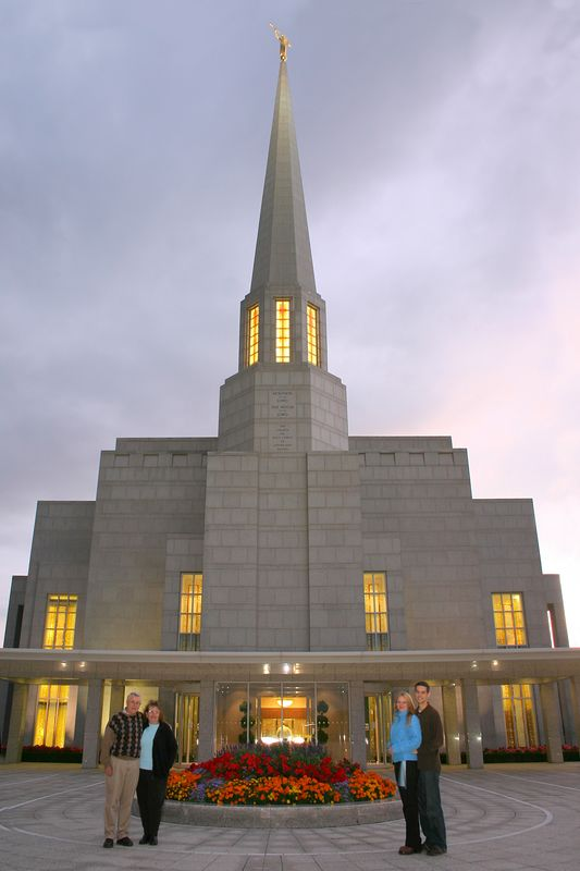 Preston Temple at Sunset