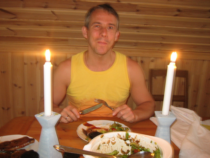 at diner