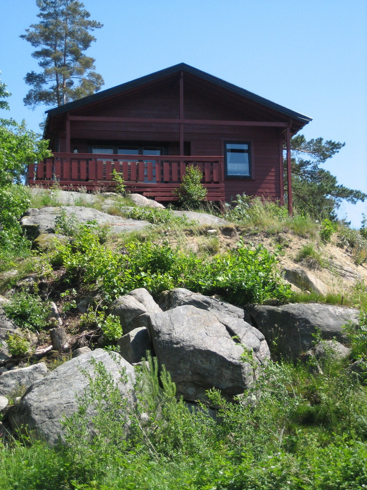 the chalet, from the water front