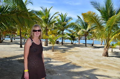 Kathy in Palm tree heaven.