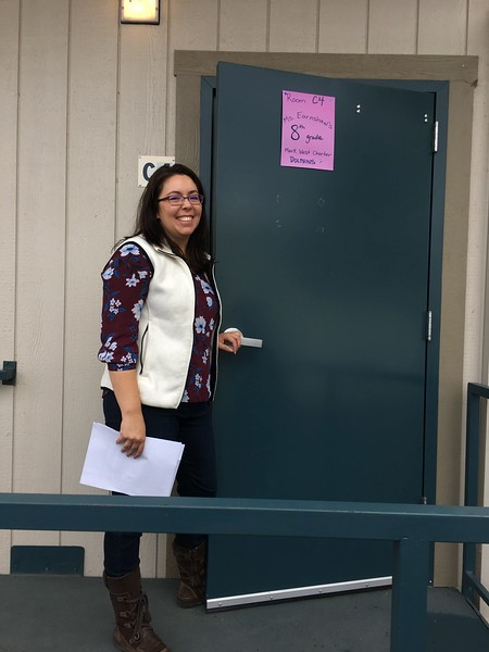 Ms. Earnshaw, a teacher who has often invited Tonya into her classroom.