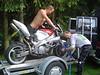 Unloading the bikes ;)