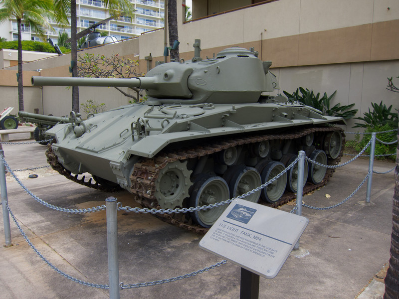 American M24 tank at Fort Derussy