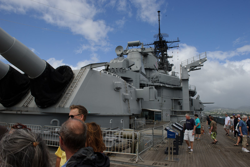 Each barrel of those main guns weighs 240 tons