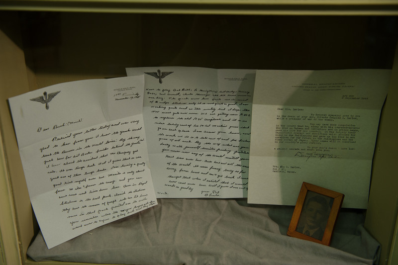 Letters written home by a soldier in WWII, and the letter written by MacArthur telling the family of the soldier's death.