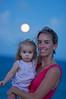 Full moon rising over Allison & Elise