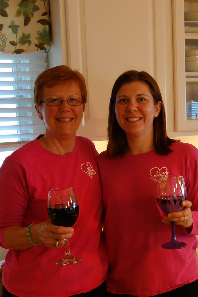 Mother and daughter toasting the beach with our beach wine glasses
