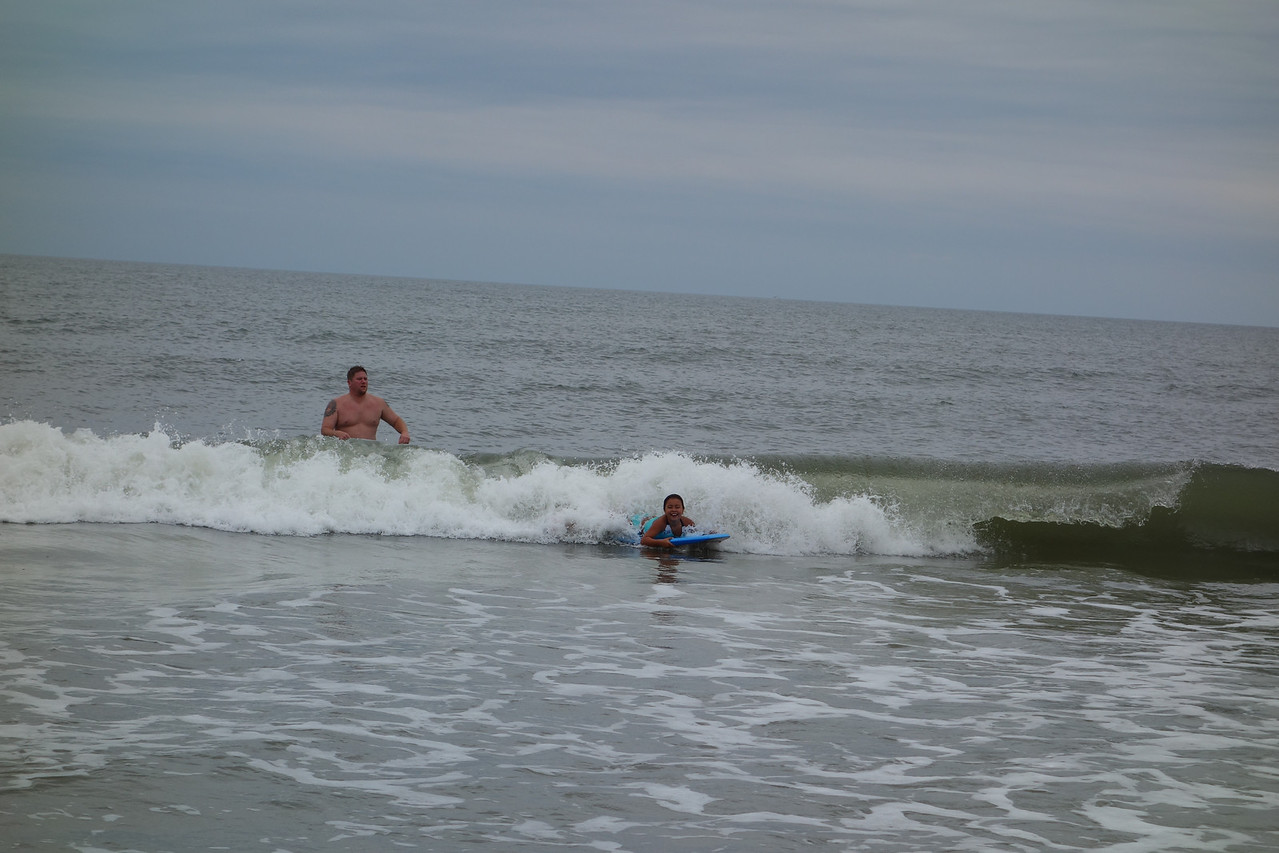 Kaidyn catching a wave