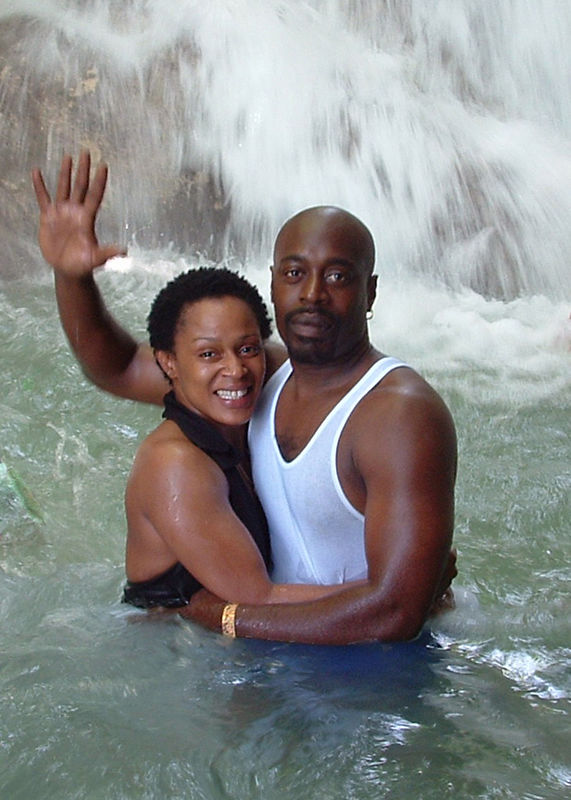 Dunn's River Falls, we made it to the top! Whew that was scary!!
