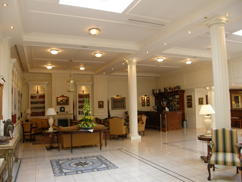 This is part of the lobby of the Stanhope Hotel in Brussels