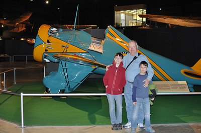 March 21, 2013 - (Wright-Patterson Air Force Base [National Museum of the United States Air Force] / Dayton, Montgomery County, Ohio) -- James, David & Aaron in front of Boeing P-26A (1931)