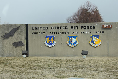 March 21, 2013 - (Wright-Patterson Air Force Base / Dayton, Montgomery County, Ohio) -- Gate Entrance signage