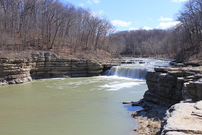 March 20, 2013 - (Cataract Falls State Recreation Area [Lower Falls] / Cloverdale, Owen County, Indiana) -- Lower Cataract Falls [about 1/2 mile from the Upper Falls]