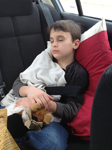 March 20, 2013 - (Indiana [Hwy 70 / near Ohio border] / Indiana) -- Aaron catching a quick little nap