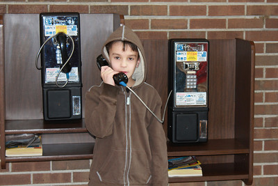 """March 20, 2013 - (Indiana Welcome Center / West Terre Haute, Vigo County, Indiana) -- When Aaron saw the pay telephones, he asked """"What are these?"""""""