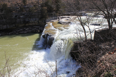 March 20, 2013 - (Cataract Falls State Recreation Area [Upper Falls] / Cloverdale, Owen County, Indiana) -- Upper Cataract Falls