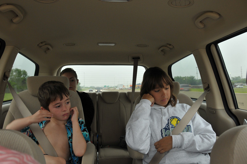 On our way to Cedar Point.  <br /> Are we there yet?  How about now....