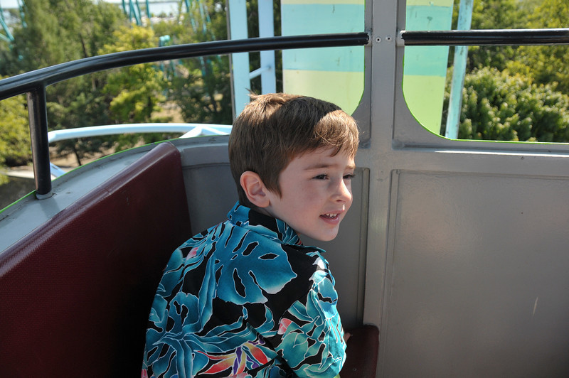 Travis loved the skyride.  He wanted to ride it over and over.