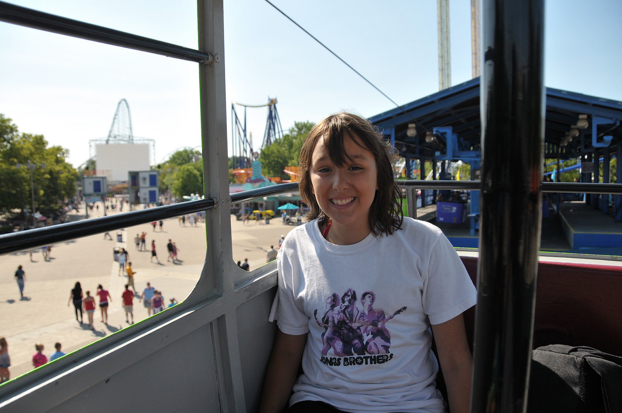 Brittany on the skyride.